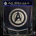Starfleet Seal Alternate Reality Decal Sticker Metallic Silver Emblem 120x120
