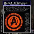 Starfleet Seal Alternate Reality Decal Sticker Orange Emblem 120x120