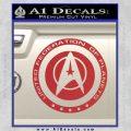 Starfleet Seal Alternate Reality Decal Sticker Red 120x120