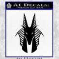 Stargate Anubis Head Decal Sticker Black Vinyl Black 120x120