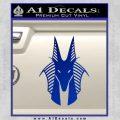 Stargate Anubis Head Decal Sticker Blue Vinyl Black 120x120