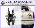 Stargate Anubis Head Decal Sticker CFB Vinyl Black 120x97