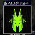 Stargate Anubis Head Decal Sticker Neon Green Vinyl Black 120x120