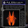 Stargate Anubis Head Decal Sticker Orange Emblem Black 120x120
