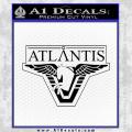 Stargate Atlantis Decal Sticker Black Vinyl 120x120