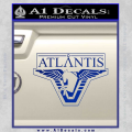 Stargate Atlantis Decal Sticker Blue Vinyl 120x120