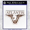 Stargate Atlantis Decal Sticker Brown Vinyl 120x120