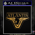 Stargate Atlantis Decal Sticker Gold Metallic Vinyl 120x120