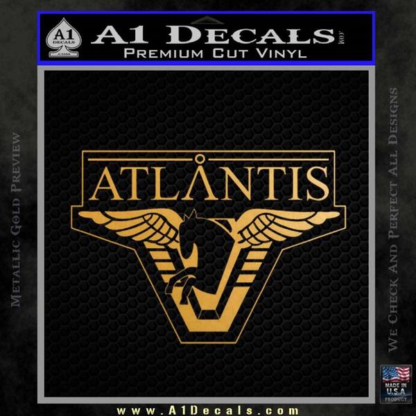 Stargate Atlantis Decal Sticker Gold Metallic Vinyl
