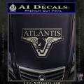 Stargate Atlantis Decal Sticker Metallic Silver Vinyl 120x120