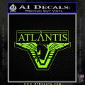 Stargate Atlantis Decal Sticker Neon Green Vinyl 120x120