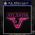 Stargate Atlantis Decal Sticker Neon Pink Vinyl 120x120
