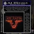 Stargate Atlantis Decal Sticker Orange Emblem 120x120