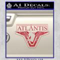 Stargate Atlantis Decal Sticker Red Vinyl 120x120