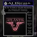 Stargate Atlantis Decal Sticker Soft Pink Emblem 120x120