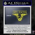 Stargate Atlantis Decal Sticker Yellow Vinyl 120x120