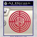 Steyr Firearms Decal Sticker CR Red Vinyl 120x120