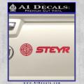 Steyr Firearms Wide Full Decal Sticker Red Vinyl 120x120