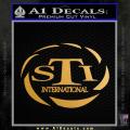 Sti International Firearms Decal Sticker Gold Metallic Vinyl 120x120
