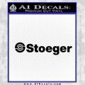 Stoeger Firearms Wide Decal Sticker Black Vinyl 120x120
