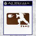 Street Fighter Haudouken D1 Decal Sticker Brown Vinyl 120x120
