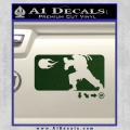 Street Fighter Haudouken D1 Decal Sticker Dark Green Vinyl 120x120