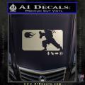Street Fighter Haudouken D1 Decal Sticker Metallic Silver Vinyl 120x120