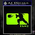 Street Fighter Haudouken D1 Decal Sticker Neon Green Vinyl 120x120