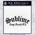 Sublime Long Beach California Decal Sticker Black Vinyl 120x120
