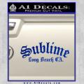 Sublime Long Beach California Decal Sticker Blue Vinyl 120x120