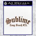 Sublime Long Beach California Decal Sticker Brown Vinyl 120x120