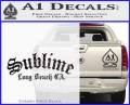 Sublime Long Beach California Decal Sticker CFB Vinyl 120x97