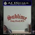 Sublime Long Beach California Decal Sticker DRD Vinyl 120x120