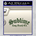 Sublime Long Beach California Decal Sticker Dark Green Vinyl 120x120