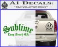 Sublime Long Beach California Decal Sticker Green Vinyl 120x97