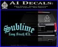 Sublime Long Beach California Decal Sticker Light Blue Vinyl 120x97