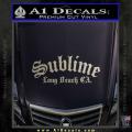 Sublime Long Beach California Decal Sticker Metallic Silver Vinyl 120x120