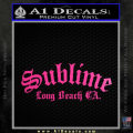 Sublime Long Beach California Decal Sticker Neon Pink Vinyl 120x120