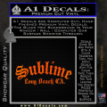 Sublime Long Beach California Decal Sticker Orange Emblem 120x120
