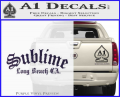 Sublime Long Beach California Decal Sticker Purple Vinyl 120x97