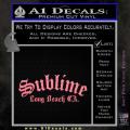 Sublime Long Beach California Decal Sticker Soft Pink Emblem 120x120