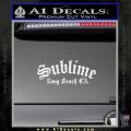 Sublime Long Beach California Decal Sticker White Vinyl 120x120