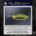 Sublime Long Beach California Decal Sticker Yellow Vinyl 120x120