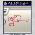 Super Mario Yoshi Tongue Decal Sticker Red Vinyl 120x120