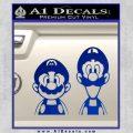 Super Mario n Luigi Decal Sticker Blue Vinyl Black 120x120