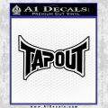 Tapout Decal Sticker Black UFC Vinyl Black 120x120
