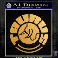 Taurus Firearms Decal Sticker Circle Gold Metallic Vinyl 120x120