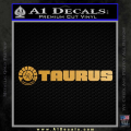 Taurus Firearms Decal Sticker Wide Gold Metallic Vinyl 120x120