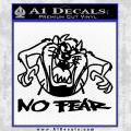 Taz No Fear Decal Sticker Black Tasmanian Devil Vinyl 120x120