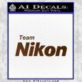 Team Nikon D1 Decal Sticker Brown Vinyl 120x120